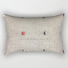 Nuremberg U-Bahn Memories - Stadthalle Rectangular Pillow