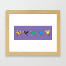 Chocobo race Framed Art Print