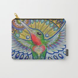 Hummingbird & Cactus - Beija Flor III Carry-All Pouch