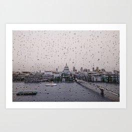Rainy St. Paul's Art Print