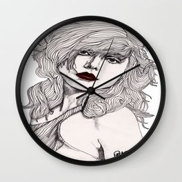 Debbie with Red Lips Wall Clock