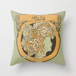 medusa silhouette (light) Throw Pillow
