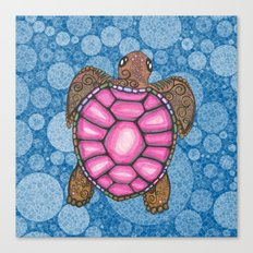 Bubblegum Pink Sea Turtle Canvas Print