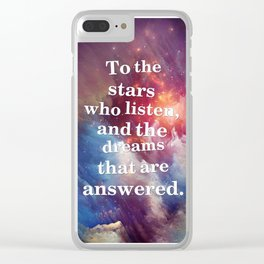 To The Stars Clear iPhone Case