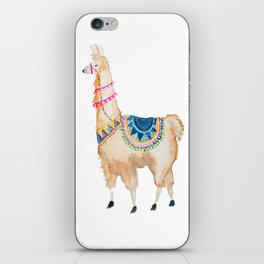 Watercolor llama iPhone Skin