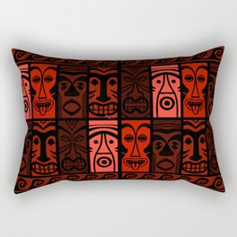 Lava Red Tikis! Rectangular Pillow
