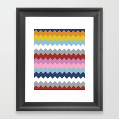 Map Quilt Framed Art Print