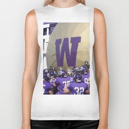 Winona State University Football Biker Tank