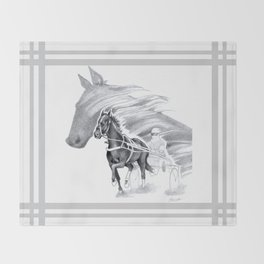 Trotting Up A Storm Throw Blanket