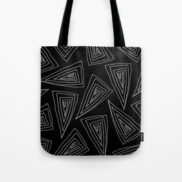 Flagstaff - white on black Tote Bag