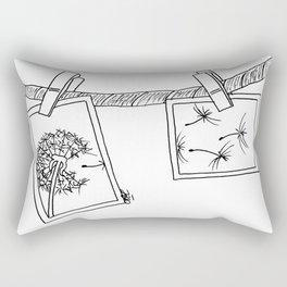 Dandelion in photos Rectangular Pillow