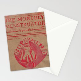 THE MONTHLY MENSTRUATOR - a periodical: Supermens Stationery Cards