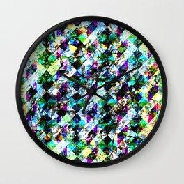 Geometric Crystal Smash Print Wall Clock