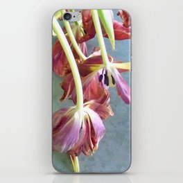 Tulips on Zinc-topped Coffee Table iPhone Skin