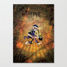 Winston - Sax. The Twitch Doctors Canvas Print