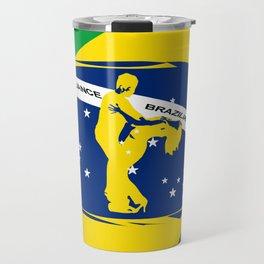 lets dance brazilian zouk flag design Travel Mug
