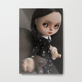 Erregiro Blythe Custom Doll Wednesday Addams Metal Print