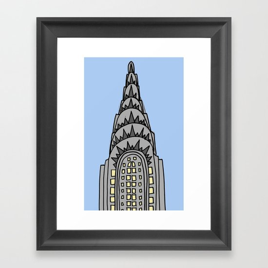 The Chrysler Building Would Look All Wrong in Nappa Framed Art Print