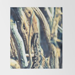 Wooden Viper Throw Blanket