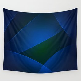 Regal Blue, Burnnham, Stratos, Midnight, Congress Blue & Smalt Colors Wall Tapestry