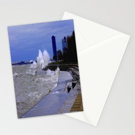 When Sandy Made Waves in Chicago #5 (Chicago Waves Collection) Stationery Cards