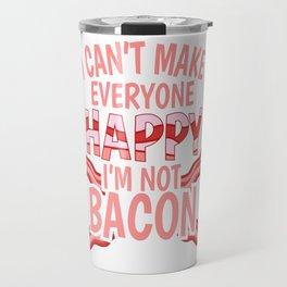 Bacon ham meat grilling steak joke gift Travel Mug
