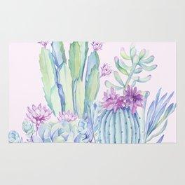 Mixed Cacti Pink #society6 #buyart Rug