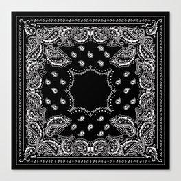 Bandana Black & White Canvas Print