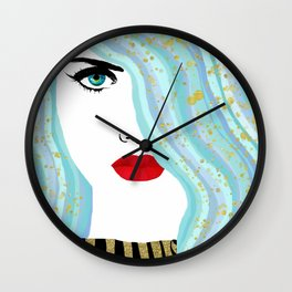 Francesca Has Mermaid Hair Wall Clock
