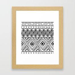 African Mud Cloth Framed Art Print