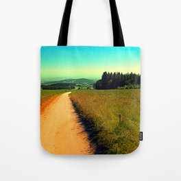 Hiking on a hot afternoon Tote Bag