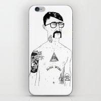 stanley kubrick iPhone & iPod Skins featuring Stanley by David Penela