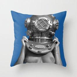 Diver UP - Princess Blue Throw Pillow