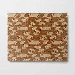 Fractal Wave C Metal Print