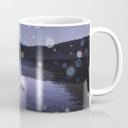 Canoe at Mount Fuji Coffee Mug