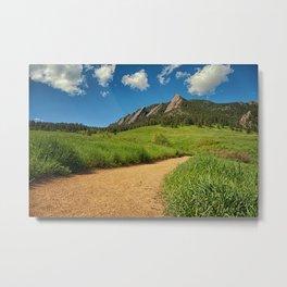 Chautauqua Trail in Boulder Metal Print