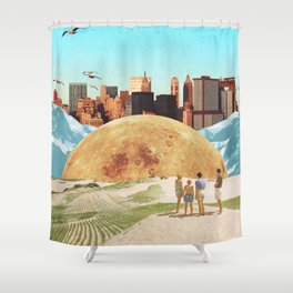 Vanished Worlds Shower Curtain