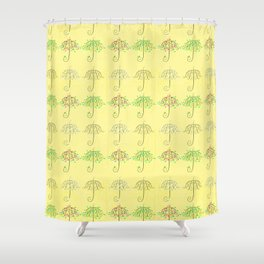 Umbrella Shape Tree 4 Seasons Shower Curtain