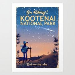 Kootenai national park Canada Art Print