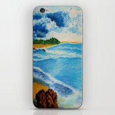 Cloudy Beach iPhone & iPod Skin