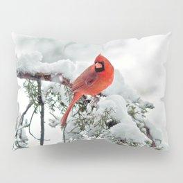 Cardinal on Snowy Branch #2 Pillow Sham