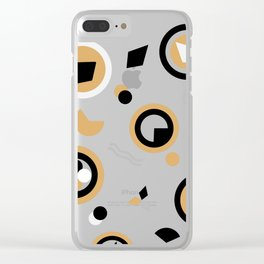 Circles and irregular shapes can very be interesting Clear iPhone Case