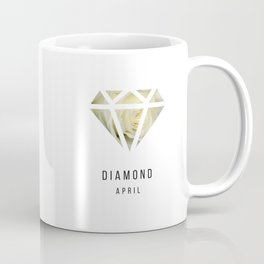 Diamond birthstone mug - April Coffee Mug