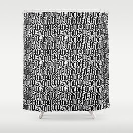 typography pattern 2 - old gothic calligraphy design, seamless Shower Curtain