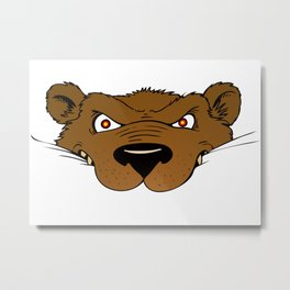 Attention Bear Metal Print