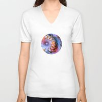 ferris wheel V-neck T-shirts featuring Ferris Wheel by Klara Acel