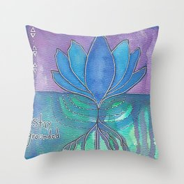 Stay Grounded Throw Pillow