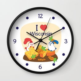 Ernest and Coraline | I love Wisconsin Wall Clock
