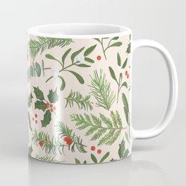 Robin in a Winter Garden Coffee Mug