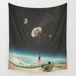 Summer with a Chance of Asteroids Wall Tapestry
